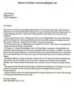 Till Tanja Nilsson